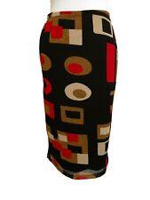 Boutique Europa A-line Skirt, Size M, Multicolor, Elastic Waist