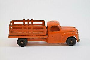 Vintage Hubley Kiddie Toy Orange Farm Pickup Truck #460