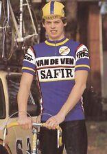 CYCLISME carte cycliste LUDO FRYNS  équipe VAN DE VEN SAFIR 1983