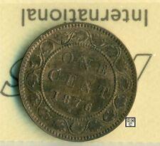 ICCS Canada 1876H - 1cent Coin ; AU-50  ; Cert. No. - XDU 736