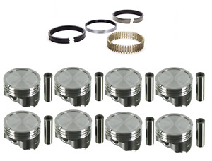 Sealed Power Hypereutectic Dish Pistons w/ Rings for Chevrolet Gen III 6.0 LQ4