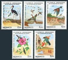 Monaco 1744-1748,MNH.Michel 1995-1999. Migratory Birds,1991.Ciconia abdimii