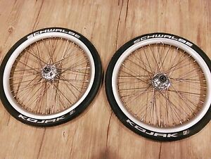 "Strida 18"" wheel set w/ schwalbe tube & kojak tire - silver"