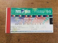 Australia V South Africa Semi Final Ticket Rugby World Cup 1999 Twickenham IRB 1