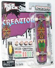 TECH DECK LONGBOARD Fingerboard SKATEBOARD CREATION w STICKERS NEW