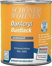 Schöner wohnen DurAcryl Buntlack RAL 5002 Ultramatinablau Seidenmatt 0,750 ml