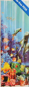 "Dolphin Aquatic Fish ~ Shower Curtain ~ 70"" X 72"" ~ Mainstays ~ 100% PEVA"