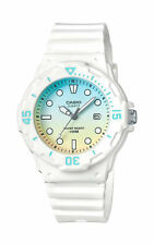 Casio Women's Analog White Resin Band, 100 Meter, Date, LRW200H-2E2V