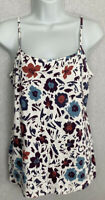 LOFT Womens Tank Top Size Large Floral Shirt Cotton/Spandex Scoop Neck NWT NEW