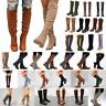 Women's Knee High Boots Ladies Winter Mid Calf Riding Biker Flat Shoes Booties