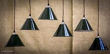Small Vintage Industrial Factory Enamel Pendant Light