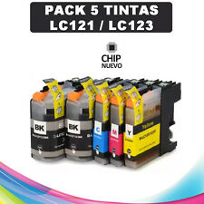 5 Cartuchos compatibles NonOem BROTHER LC121 LC123 XL MFC-J6720DW DCP-J132W