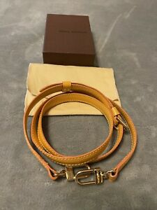 *AUTH Louis Vuitton Adjustable Bag Strap Yellow with Dust bag and Box