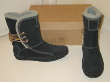 Timberland A Lounger Mukluks Black Suede Mid Boots Lined Shoes Womens 6.5