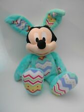 Mickey Mouse Holiday Easter Bunny Genuine Disney 17 inches Mint Plush Green