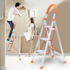 Home Non-slip 3 Steps Ladder Folding Grip Aluminum Step Stool Heavy Industrial