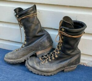 WHITE'S Hathorn Explorer Firefighter Logger Biker Work Boots Men's Size 10.5 EE