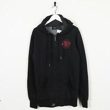 Vintage HARLEY-DAVIDSON Small Logo Zip Up Hoodie Sweatshirt Black | Medium M
