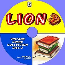Over 130 Memorable classique vintage Lion Comics & annuelles 1960s-70s PC DVD 1