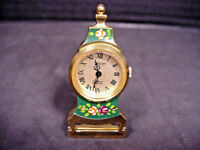 Felicitas Watch Miniature Mantle Time Piece Converts to Pendant or Pin Brooch