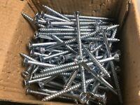 """100 PC Steel 10 x 3 - 1/2"""" Phillips Flat Head Wood Screws"""