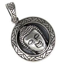 Buddha Anhänger Silber 925 Buddhismus Schmuck b182