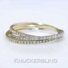 18 Carat Multi-Tone Gold Round Fine Diamond Rings