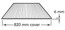 Lysaght MINI ORB CORRUGATED STEEL SHEET 900mm Zincalume Steel *Australian Made