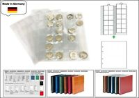 10 LOOK 1-7392-W Münzhüllen PREMIUM 24 Fächer Für Münzen bis 34 mm + weiße ZWL