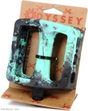 """Odyssey Twisted PC Pro 9/16"""" Bike Platform Pedals BMX MTB - Black / Mint Swirl"""