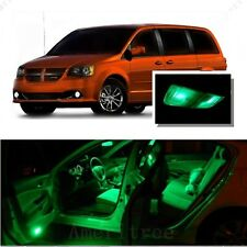 For Dodge Grand Caravan 2008-15 Green LED Interior Kit + Green License Light LED
