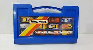 Vintage MATCHBOX 18 Cars Carry Case Tragekoffer Mallette England 1987(NO CARS)