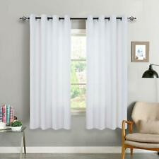White Curtains Window Bedroom Living Room Triple Weave Moderate Blackout Drape