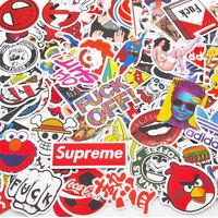100 Pack Skateboard Stickers Vintage Vinyl Laptop Luggage Decals Dope Sticker