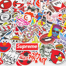 100 Pack Skateboard Stickers Vintage Vinyl Laptop Luggage Decals Dope Sticker