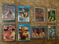 (8) Jose Canseco Mark McGwire 1986 1987 Donruss Fleer Topps Rookie card lot RC