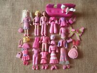 """Polly Pocket Doll Lot """"Colors of the Rainbow"""" Pink Clothes Pet Clothing 6-59"""