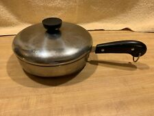 VINTAGE PRE 1968 REVERE WARE COPPER CLAD 7.1/4 INCH SKILLET FRYING PAN WITH LID