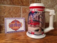 Budweiser Holiday Stein 2001- Clydesdales