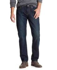"MEN`S NEW BANANA REPUBLIC STRAIGHT LEG JEANS W34""-L32"" DARK BLUE - RRP £50"