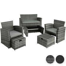 Conjunto de Ratán Set Muebles Sofá Sillones Taburetes Exterior Jardín Terraza