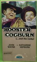 ROOSTER COGBURN (...AND THE LADY) VHS 1984 John Wayne Katharine Hepburn