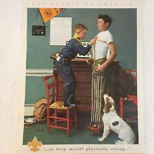 Vintage Boy Scouts Of America Wall Calendar Norman Rockwell 1964 Measuring Up