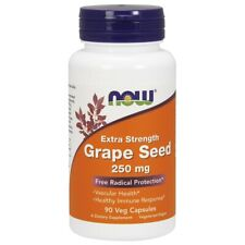 NOW Mega Poteny Grape Seed Extract OPC 250 mg 90 Vcaps®, Antioxidant Protection