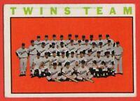 1964 Topps #318 Minnesota Twins Team VG-VGEX Harmon Killebrew Jim Kaat FREE SHIP