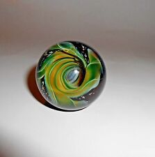 Awesome Artisan Hand Made Swirling Vortex Marble Labyrinth Art Glass Ball