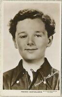 Freddie Bartholomew 1930s Real Photo Postcard - RPPC - MGM Movie Star