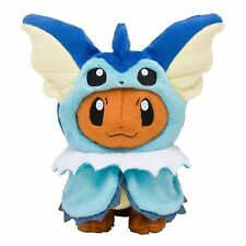 Pokemon Center Eevee Poncho Vaporeon Showers Plush Doll Stuffed Figure Toy 7 In.
