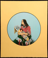 Jerry Ingram MOTHER AND CHILD Hand Signed Lithograph by Native American artist