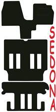 Kia Sedona DELUXE QUALITY Tailored mats 1999 2000 2001 2002 2003 2004 2005 2006